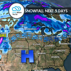 Thanksgiving Snow Before You Go: Feet for Tahoe, Pac NW, BC - ©Meteorologist Chris Tomer