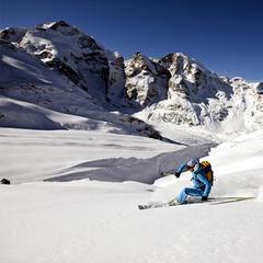 Gletscherabfahrt Diavolezza im Engadin