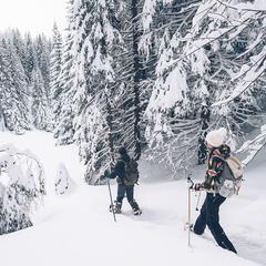 Raquettes aux pieds, foulez les sommets des Montagnes du Jura - ©M.COQUARD et E.DETREZ Bestjobers  Bourgogne Franche Comte Tourisme