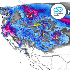 Up to 3 Feet by Saturday for Colorado: 2.14 Snow B4U Go - ©Meteorologist Chris Tomer
