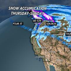 1.30 Snow Before You Go: Shifting Pattern Out West - ©Meteorologist Chris Tomer