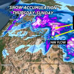2.6 Snow Before You Go: 1-3 FEET of Fresh Powder by Saturday - ©Meteorologist Chris Tomer