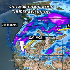 3.12 Snow Before You Go: Two Storm Systems Lined Up for the West - ©Meteorologist Chris Tomer