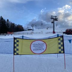 Zákaz vstupu na sjezdovky - © facebook | Skicentrum Deštné v Orlických horách