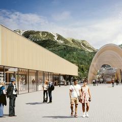 Illustration der neuen Nebelhornbahn Talstation - © OK Bergbahnen