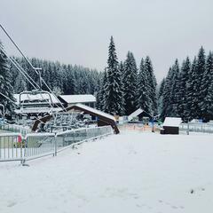 První sníh na Špičáku v Železné Rudě, 13.11.2019 - © facebook   Ski&Bike Špičák