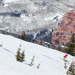 Skiing at Brian Head Resort in Utah - © Adam Clark