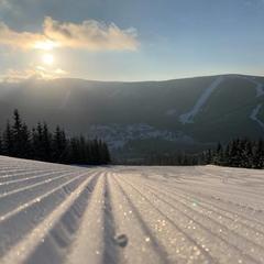 Do Czech wróciła zima -  Szpindlerowy Młyn,20.2.2020 - © facebook | Skiareál Špindlerův Mlýn