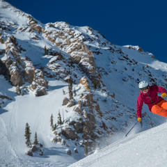 Women skiing at Snowbird - © Scott Markewitz