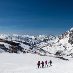 Aufstieg zum Col de Labby, Vanoise Nationalpark, im Hintergrund der Rateau - © Iris Kürschner