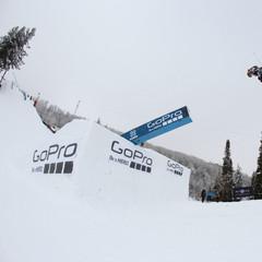 James Woods in the ski slopestyle final. - ©ESPN