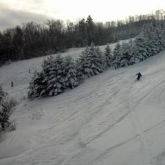 Fresh powder turns at Blackjack Ski Resort. - ©Blackjack Ski Resort