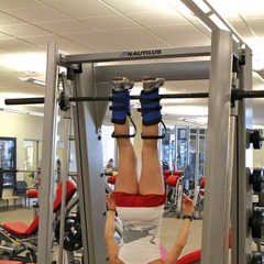 Ski Exercises: Inverted Sit-Ups With Leg Raise - ©OnTheSnow.com