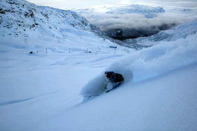 Plenty of off-piste powder in Roldal, Norway
