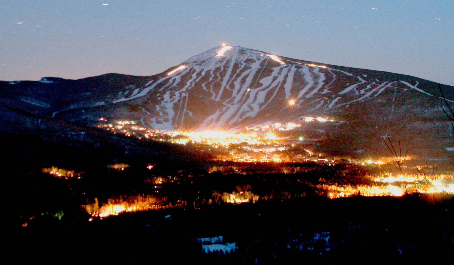 Night falls over Sugarloaf Resortundefined