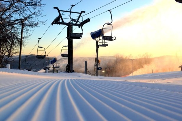 Fresh corduroy at Appalachian Ski Mountain. Photo Courtesy Appalachian Mtn.undefined