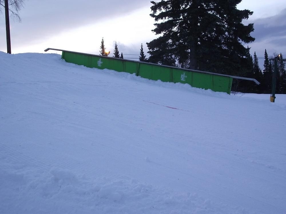 A rail at Hilltop Ski Area.