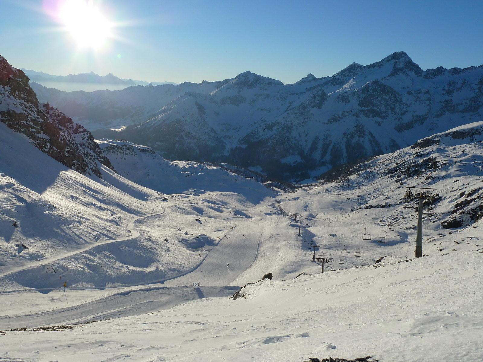 Champoluc, in het Monta Rosa skigebied