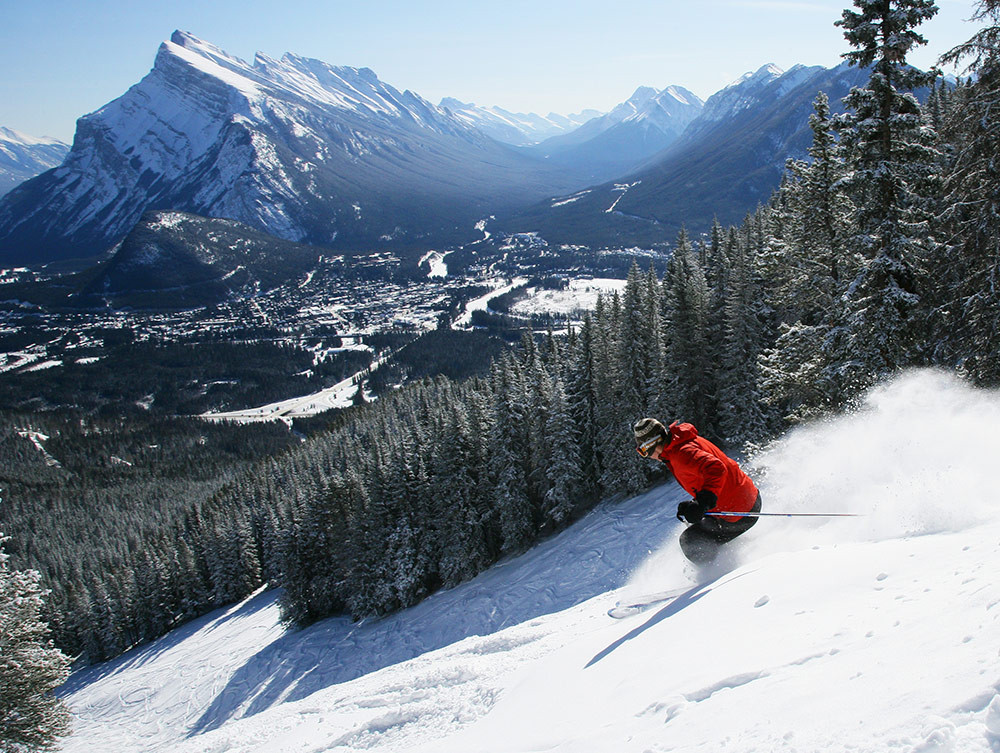 Mt. Norquay is adjacent to the historic town of Banff.