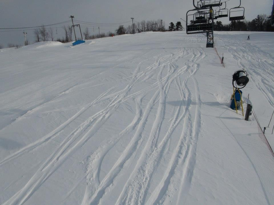 Fresh tracks at Ski Ward.
